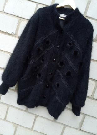 Крутой объемный свитер,  кардиган очень теплый с ангоры раз. x...