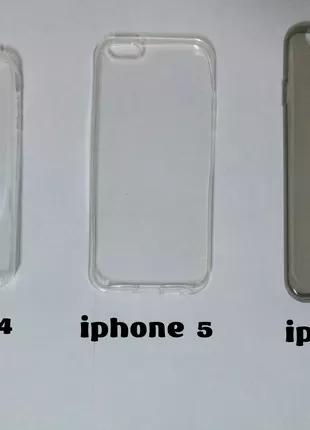 Чехлы силиконовые прозрачные на iphone 4.5.6