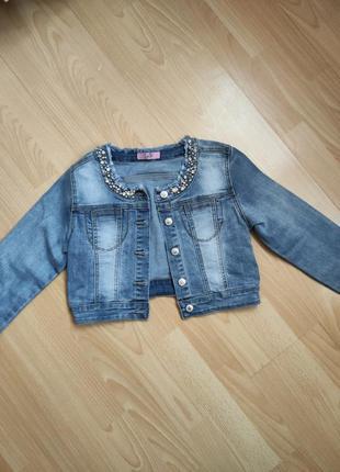 Куртка пиджак джинсовый toobetoo