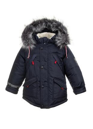 Размер 26-32 стильная зимняя куртка для мальчика