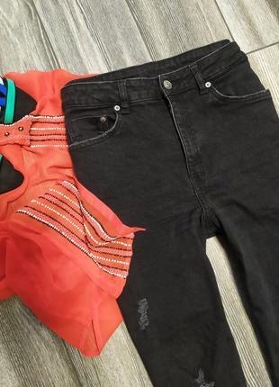 Крутые мом джинсы момы с высокой посадкой талией