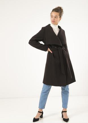 Осеннее женское пальто season шоколад