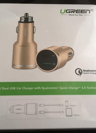 UGREEN QC 3.0 быстрая зарядка для автомобиля качество ОПТ РОЗНИЦА
