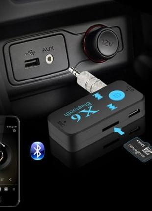 Гарнитура Bluetooth Aux адаптер + слот MicroSD Hands Free