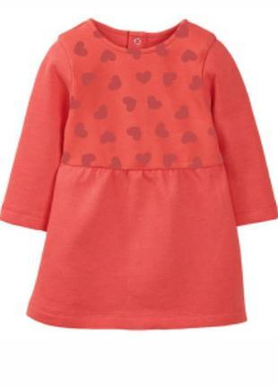 Теплое платье 74-80 lupilu