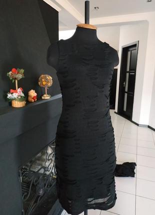 Маленькое черное платье сетка прорези двойное италия