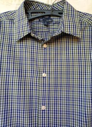 Рубашка новая с длинным рукавом в клетку gap сорочка в клітку-...