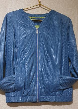 Куртка бомбер кожа кожаная питон брендовая