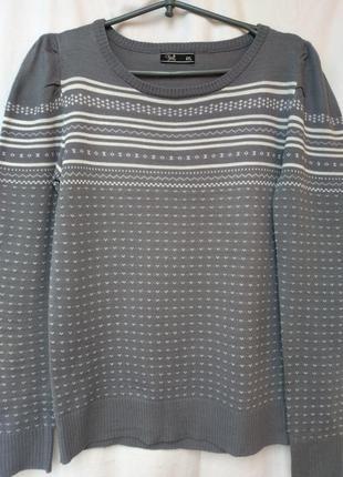 Трикотажный свитер свободного силуэта с шотландским орнаментом...