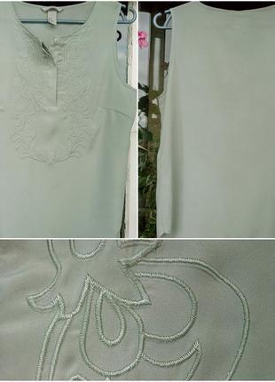 Летняя салатовая блузка майка от h&m літня ніжна майка блуза