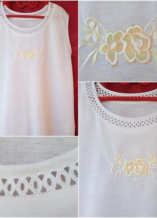 Летняя белая майка блузка (р.52-54)