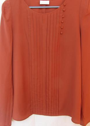 Блуза терракотового цвета selected femme р.46-48 блузка з довг...