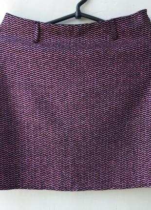 Мини-юбка черная с люрексом р. 44-46 pollini