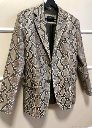 Куртка жакет пиджак кожа кожаный питон