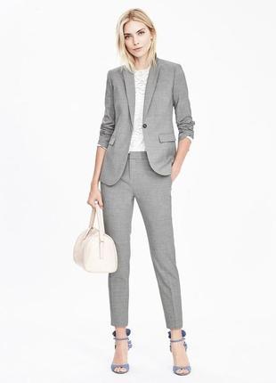 Пиджак серый классический р.42-44 (s\6\36) бренд h&m