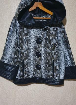 Куртка кожа кожаная с капюшоном
