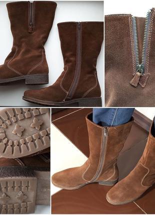 Теплые и комфортные сапоги замшевые женские р.40 бренд ara_под...