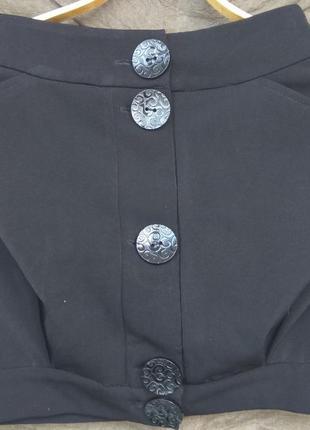 Мини-юбка с манжетами (міні-спідниця з манжетами)