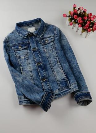 Джинсовый пиджак, куртка на 11-12 лет, рост 146-152 см