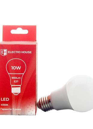 LED лампа груша E27 10 Вт