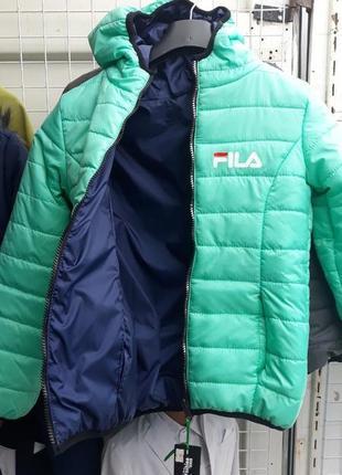 Двухсторонняя куртка для мальчика голуба плюс синяя деми осень...