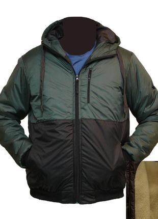 Зимняя мужская куртка на овчине и синтепоне недорого подростко...