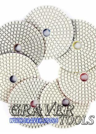 Круги алмазные полировальные (черепашки, липучки, flex, флекс)