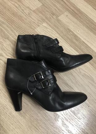Ботильоны ботинки кожаные roberto santi, новые!