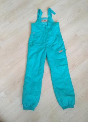 Горнолыжные теплые штаны м-л размер на лямках