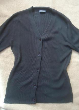 Шелковый свитер с пуговицами, 100% шелк