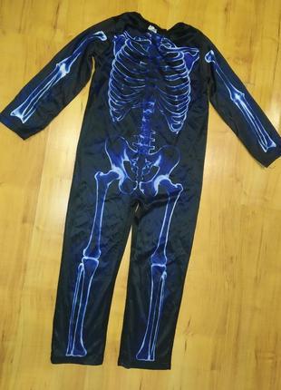 Карнавальный костюм на хэллоуин скелет на 7-8 лет
