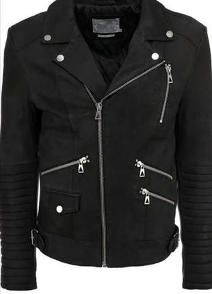 Куртка кожаная косуха мужская