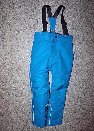 Зимние штаны на подтяжках полукомбинезон