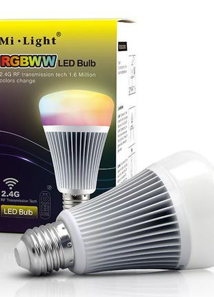 Светодиодная smart лампочка MiLight, 8W, RGB+CCT, WIFI