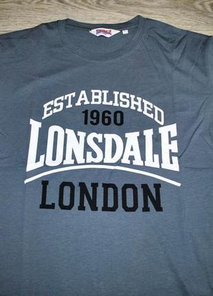 Футболка мужская новая! lonsdale l серая брендовая
