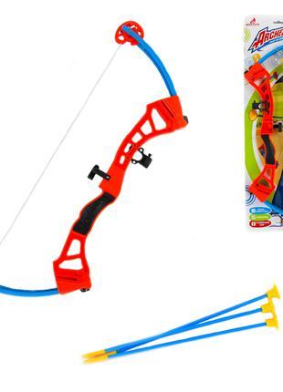 Детский лук 3681 стрелы на присосках, лук игровой набор, детск...