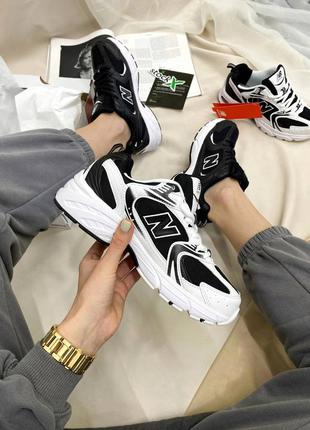 Кроссовки деми мужские нью беланс new balance 530 black/white