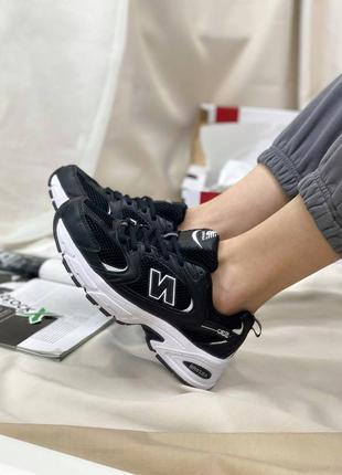 Базовые кроссовки деми унисекс нью беланс new balance 530 black