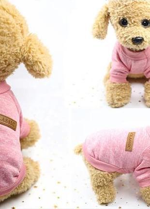 Розовая одежда кофточка для животных, собак, кошек