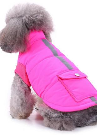 Яркая неоновая жилетка для собак животных со светоотражателем....