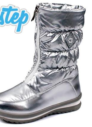 Легкие зимние сапоги дутики на овчине зимові черевики чоботи w...