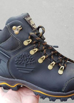 Кожаные зимние ботинки для мальчика зимові шкіряні черевики чо...