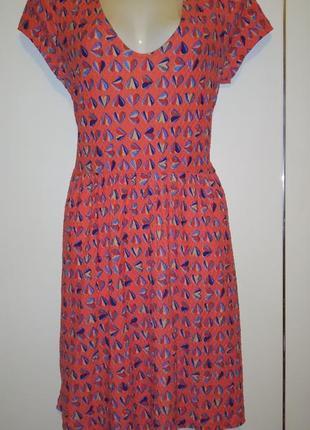 Нежеое платье в сердечки коттон
