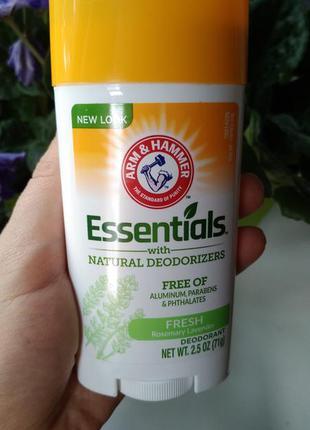 Натуральный дезодорант essentials arm hammer deodorizers для ж...