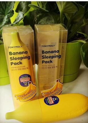 Ночная банановая маска для лица tony moly magic food banana sl...
