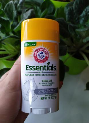 Arm & hammer essentials натуральный дезодорант без запаха
