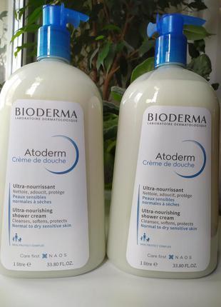 Bioderma atoderm ultra-nourishing shower cream объем 1л. питат...