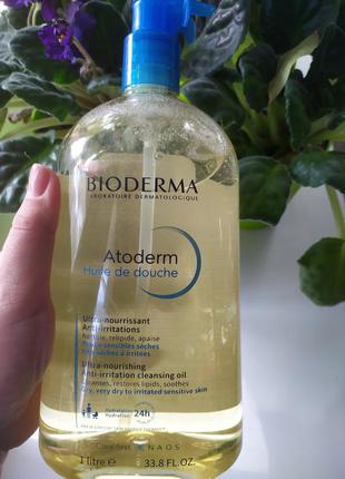 Масло для душа bioderma atoderm shower oil 1 литр биодерма ато...