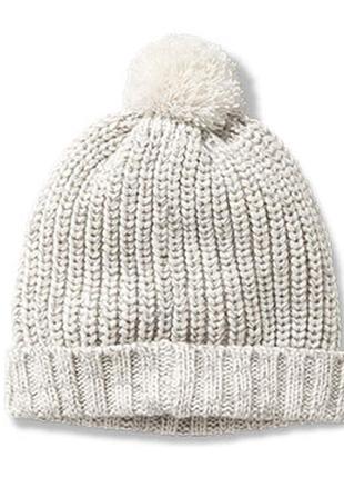 Вязаная шапка с помпоном tchibo, германия - деми