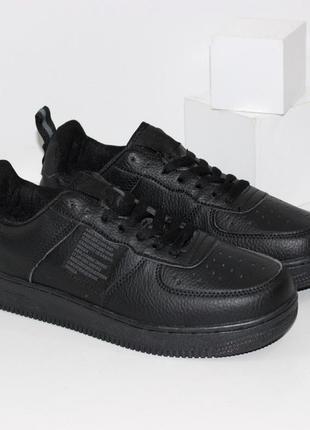 Модные мужские кроссовки в черном цвете